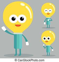 Light bulb character