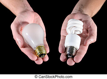 Light Bulb Choice - An offering of two different light bulbs