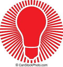 light bulb (classic light bulb, light bulb symbol)