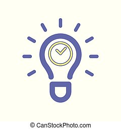 Light bulb clock idea icon