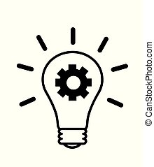 Light bulb, creative idea