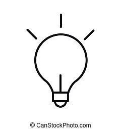 light bulb creativity idea solution line style icon