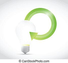 light bulb cycle illustration design