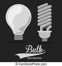 Light bulb design, vector illustration