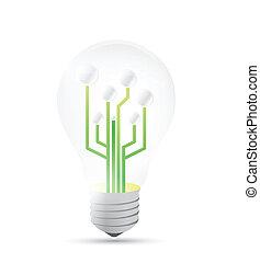 light bulb diagram illustration design