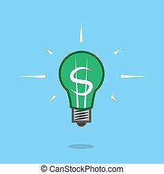 Light Bulb Dollar Sign Float
