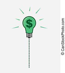 Light Bulb Dollar Sign