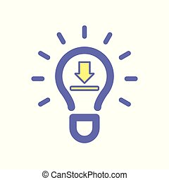 Light bulb download idea icon