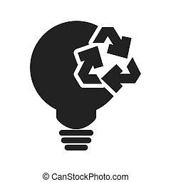light bulb ecology silhouette design - light bulb recycle...
