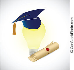 light bulb education concept illustration design