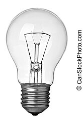 close up of a light bulb on white background