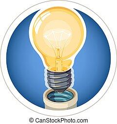 Light bulb. Eps10 vector illustration. Isolated on white...
