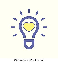 Light bulb favorites idea icon