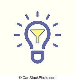 Light bulb filter idea icon