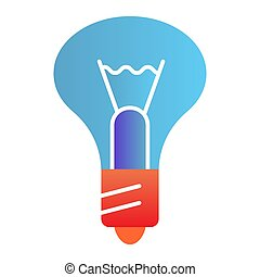 Light bulb flat icon. Lamp color icons in trendy flat style. Illumination gradient style design, designed for web and app. Eps 10.