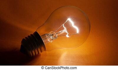 Light bulb flickering - Blinking ligh tbulb on the yellow...