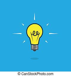 Light Bulb Floating