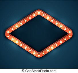 Light Bulb Frame Marquee