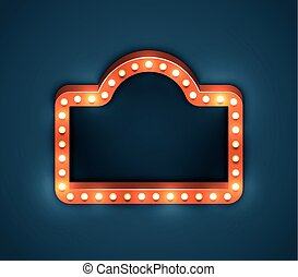 Light Bulb Frame Marquee