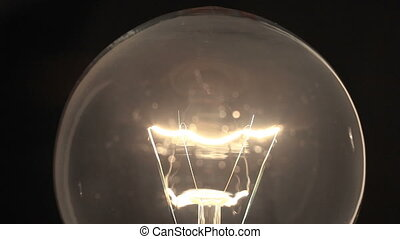 Light bulb glows and flickers