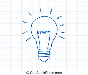 Light Bulb Graph Paper - Light bulb drawing on graph paper...