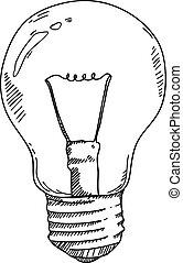 light bulb hand drawing