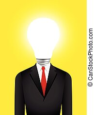Light Bulb Head Businessman