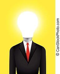 Light Bulb Head Businessman