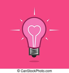 Light Bulb Heart