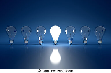 Light bulb - High Resolution 3d render of light bulb clipart...