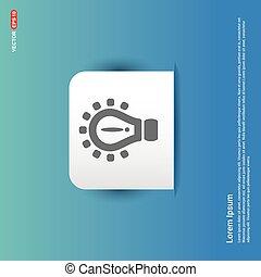 Light Bulb Icon - Blue Sticker button