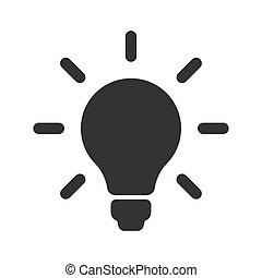 Light bulb icon. Idea