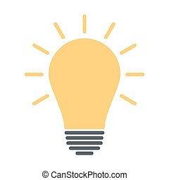 Light bulb icon. Idea sign, solution, thinking concept. Silhouette vector illustration