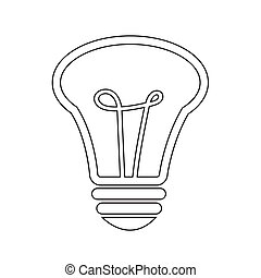 Light bulb icon illustration design
