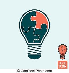 Light bulb icon isolated.