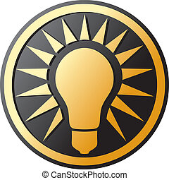 light bulb Icon (light bulb button)
