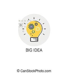Light Bulb Icon New Idea Business Concept