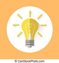 Light Bulb Icon New Idea Concept