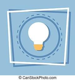 Light Bulb Icon New Idea Web Button