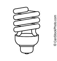 Light bulb icon. Save energy design. Vector graphic