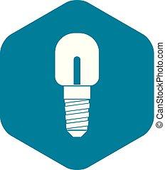 Light bulb icon, simple style