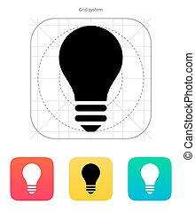Light bulb icon. Vector illustration.