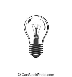 light bulb, icon, vector
