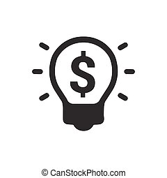 Light Bulb Icon With Dollar Symbol Vector