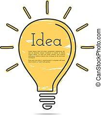 Light Bulb Icon with Idea Concept