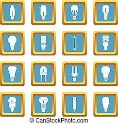 Light bulb icons azure