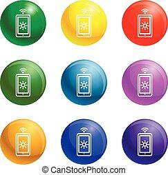 Light bulb icons set vector