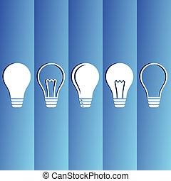 Light bulb icons