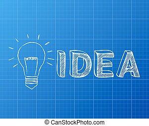 Personal development light bulb blueprint hand drawn personal light bulb idea blueprint malvernweather Choice Image