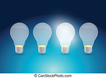 light bulb idea concept illustration design